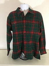 Polo Ralph Lauren Dermot Men's Wool Blend Heavy Shirt Plaid Jacket Green Red M