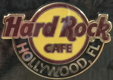 Hard Rock Cafe HOLLYWOOD FL 2014 Classic HRC LOGO PIN on CARD - Catalog #80656