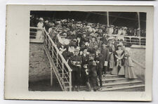 CARTE PHOTO Jules Robuchon Poitiers Hippodrome Champ course Chevaux Foule 1900