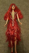 One of a kind cher doll repainted  from the Vegas show