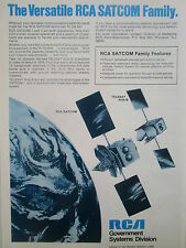 9/1976 PUB RCA GOVERNMENT SATCOM COMMUNICATION SATELLITE ORIGINAL AD