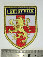 Lambretta Lion/St George Shield Patch - Embroidered - Iron or Sew On