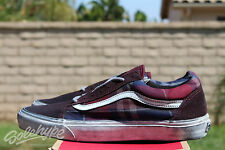 VANS OLD SKOOL REISSUE CA SZ 9 OVER WASHED PLAID PORT ROYAL BLANC VN 0KW7GK6