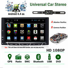 "NEW 7""Android 4.4 Double 2 Din InDash Car No DVD Radio Stereo Player WiFi 3G GPS"
