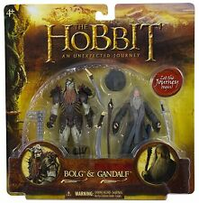 THE HOBBIT AN UNEXPECTED JOURNEY BOLG & GANDALF FIGURE SET