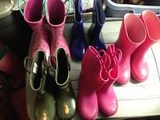 Choice1 Girl/boy Rubber Rain Welles Boots sz 10  ,11-12 Pink,9-10gr,hello kitty