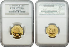 Singapore 2000 Year of Dragon $10 1/4 oz Gold NGC PF69 ULTRA CAMEO