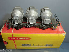 "TRIX ""EXPRESS"" MODEL No.???  FLAT WAGON  WITH 3 CONTAINERS  VN  MIB"