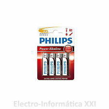 2X BLISTER 4 BATTERIES ALKALINE PHILIPS AA 1.5V GREAT QUALITY SHIPPING FROM