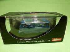 SCHUCO 2814 MERCEDES BENZ O 319 BUS - TWO TONE BLUE 1:43 - MINT IN BOX