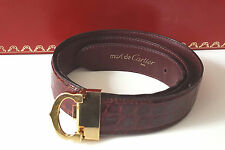 CARTIER Gürtel C-DECOR Strap BELT Ceintiure Kroko LEDER GOLD - FINISH  LEATHER