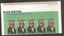 US 5056 Black Heritage Richard Allen forever header strip 5 MNH 2016