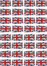 UK Wavey Union Jack Flags Exterior Vinyl Decals 1-32 Scale 54mm Model Soldiers