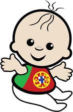 """Baby Portugal Flag Car Bumper Sticker 4"""" x 5"""""""