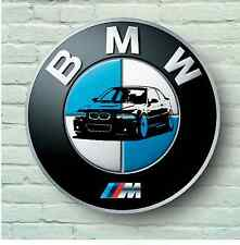 BMW M LOGO 2FT LARGE GARAGE SIGN WALL PLAQUE CAR CLASSIC SIGN M3 E36 M5 M6 M1