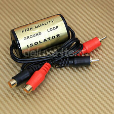GROUND LOOP ISOLATOR NOISE SUPPRESSOR FILTER HUM KILLER REMOVER RCA 3 CHANNEL