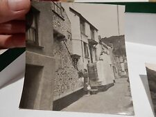 POLPERRO SHELL HOUSE   OLD PHOTOGRAPH ORIGINAL VINTAGE ITEM B/W 9X8 cm approx