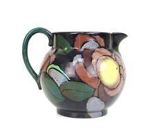 "Vintage Royal Stanley Jacobean Art Nouveau Flowery Ceramic Jug 4"" Tall England"