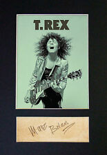 MARC BOLAN Signed Mounted Autograph Photo Print (A4) No485