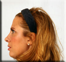 New Navy Blue Sheared Rabbit Fur Hair Band Headband - Efurs4less