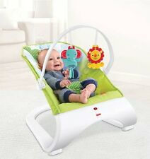 Fisher-Price Rainforest Friends Comfort Curve Baby Bouncer Vibrating Chair
