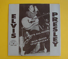 Elvis Presley SUN 209 PICTURE SLEEVE That's All Right 45RPM Rare Vintage MINT