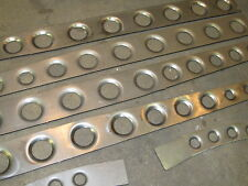 "Model A Ford BELLED HOLES or DIMPLED DRILLED 1/8"" Easy Weld Boxing Plates 28-31"