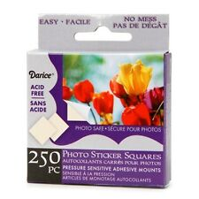 "Darice 250-pc PHOTO SQUARES Adhesive Tabs 3/8"" ACID FREE Archival Quality"