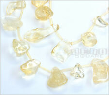 """16"""" Natural Citrine Nugget Pendant Beads 10-26mm+ 15083"""
