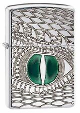 "Zippo ""Dragon Eye"" Armor High Polish Chrome Lighter, Deep Carved, 28807"