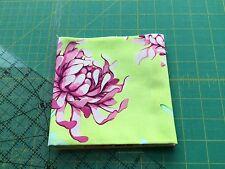Flores de color de rosa/púrpura, verde, cuarto Gordo Tela, retazos, 100% Algodón Venta