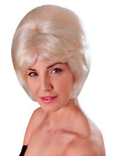 Ladies Short Blonde Beehive Wig 60s 70s Mod Fancy Dress Lulu Cilla Twiggy Adult