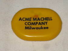 Vtg ACME MACHELL COMPANY MILWAUKEE WISCONSIN YELLOW RUBBER COIN PURSE