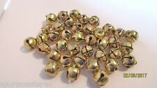36 LOT Vintage Goldtone Jingle Bells 1/2 inch Christmas Crafts Jewelry