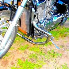 STAINLESS STEEL CUSTOM CRASH BAR HIGHWAY ENGINE GUARD+PEGS HONDA VTX 1300 RETRO
