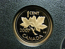 2007 Canadian Proof Penny One Cent - 1 cent