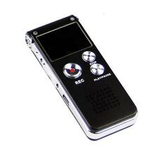 US 8GB Digital Audio Voice Recorder Dictaphone Rechargeable Telephone MP3 Player