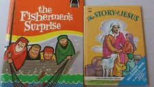 1967 The Fisherman's Surprise and 1950's The Story of Jesus lot of 2 books