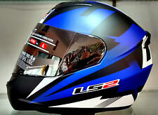 LS2 Helmets - FF352 - Dyno Black Blue - Full Face Imported Motorcycle Helmet -XL