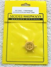 "Model Shipways Fittings MS 2593 Boxwood Sterling Wheel 7/8"" (22MM). 1 Per Pack."