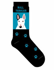 Bull Terrier Dog Socks Lightweight Cotton Crew Stretch Egyptian Made