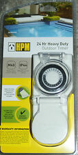 HPM Heavy Duty Outdoor Timer IP44 Weatherproof for Pool, Pumps, Spas NEW Model