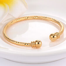 Baby's Toddler Cuff Bangle Yellow Gold Filled Adjustable Birthday Jewelry