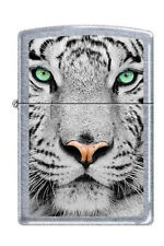 Zippo 0245 white tiger face street chrome full size Lighter