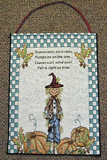 Scarecrow Harvest ~ Fall & Autumn ~ Halloween Tapestry Bannerette Wall Hanging