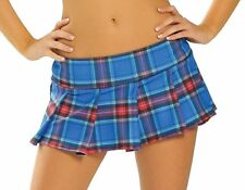 Pleated Mini Skirt Plaid School Girl Costume Roma Blue Pink Red White 1303LP