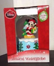 Disney Santa Clause MICKEY MOUSE Musical Water Snow GLOBE Christmas NEW