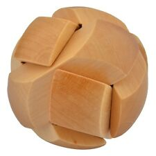 Wooden Puzzle Brain Teaser Training Toy Ball Shape Kong Ming Lock Office Desk