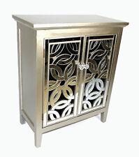 SPECCHIO fronte stile antico argento Armadietto in legno doppia porta in legno massello D03