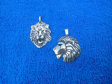 LION KING OF THE JUNGLE AFRICA  ZOO ANIMAL JEWELRY 2 LION PENDANTS ALL New